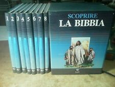 UNA BELLA OPERA :  ' SCOPRIRE LA BIBBIA '  (A FUMETTI  , 8 VOLUMI CON COFANETTO)