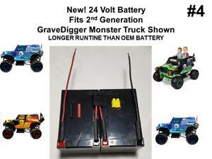 24V VOLT Longer Run Battery Minus Conn. for the Power Wheels Gravedigger Vers #4