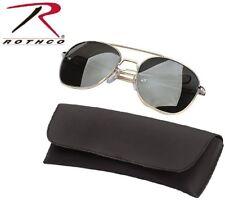 d50b26c2da563 Gold   Smoke Aviator Pilot Sunglasses Air Force Style w Case 52 MM Rothco  10604