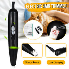 Cordless Pet Paw Hair Clipper Cat Dog Rechargeable Trimming Grooming Feet Shave