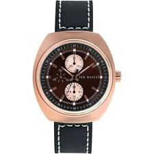 TBNP TE1130 Ted Baker Mens Gents Day & Date Display Leather Strap Watch