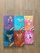 *LOT OF 6 RAINBOW FAIRY BOOKS, SPECIAL LONG STORY BOOKS, INCLUDING SUNSET FAIRY*