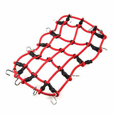 1x Roof Rack Cargo Elastic Net Hooks For RC 1/10 AXIAL SCX10 RC4WD Car Truck Red