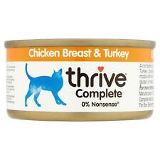 thrive Wet Cat Food Chicken Breast & Turkey 100% Real Natural Complete Tin - 75g