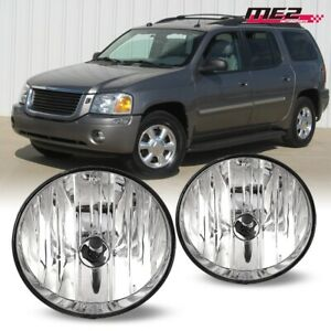 For 2002-2009 GMC Envoy PAIR OE Direct Factory Fit Fog Light Bumper Clear Lens
