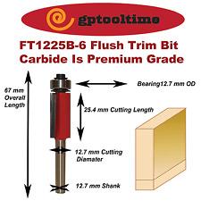 Router Bit Flush Trim Bit  RB-FT1225B-6  6.35 mm Shank
