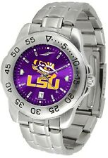 LSU Louisiana State Tigers Men Steel Sport AnoChrome Watch
