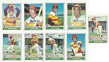 Vintage 1979 tarjetas de béisbol Topps – – Mlb Houston Astros