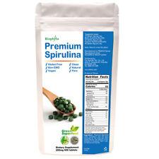 Biophyto Spirulina 200mg -600 Tablets -Enriched Vitamins & Minerals- B12 Complex