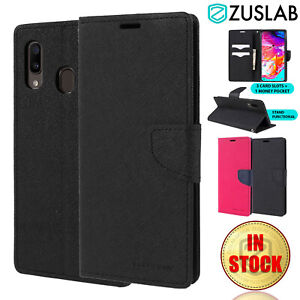 For Samsung Galaxy A20 A30 A50 A70 Case Goospery Stand Wallet Card Cover