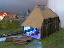 MAQUETTE MONTER  MAISON TRANFORMER EN SCIERIE ECHELLE TRAIN HO