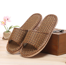 Mens Women's Summer Sand Weave Sandals Shoes Slides Flip Flops Slippers Homewear