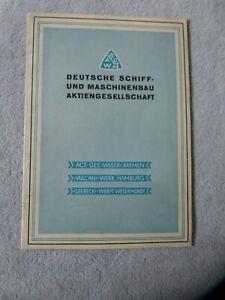 kl. Heftchen / Broschüre : Die Deschimag - dt. Schiff-und Maschinenbau AG