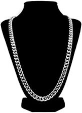 "18ct White gold filled Silver Men's necklace 23.6"" Chain Set xmas gift"