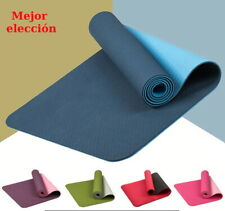 Estera de Yoga 183*61cm TPE Antideslizante Doble Esterilla de Fitness Gym Sport