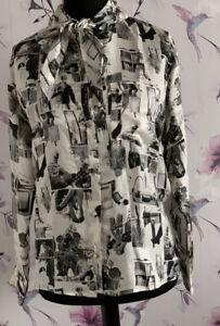 Zara Studio Collection Photo Print Shirt Size L