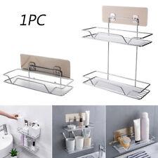 Bathroom Shower Storage Shelf Holder Rack Organiser Self Adhesive Wall-mounted