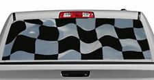 Truck Rear Window Decal Graphic [Flags / Checkered Flag 2] 20x65in DC82501