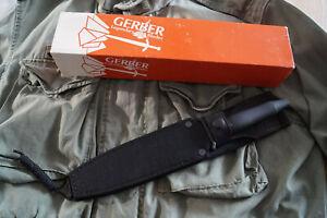 Vintage Messer GERBER - MARK II SURVIVAL - aus 1988 mit Cordura-Scheide