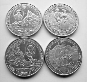 COMPLETE SET OF 1989 BICENTENENARY OF MUTINY ON THE BOUNTY ISLE OF MAN CROWNS