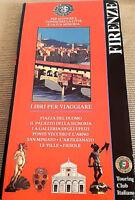 Vecchia cartina di Firenze,Touring Club Italiano, Guida oro classiche.Vintage