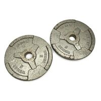 "(2) Weider Barbell 5 LB Weight Plates 1"" Hole (Total 10 LBS) ***ASAP SHIP***"