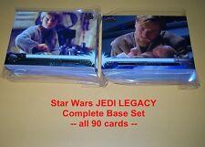 Star Wars - JEDI LEGACY     COMPLETE BASE SET  all  90 cards   Luke / Anakin