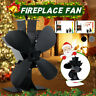4 Blades 1500RPM Silent Heat Powered Stove Fan Wood Burning Fireplace Eco Fan 3