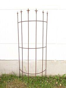 Edelrost Garten Rankhilfe aus Metall Rost Ranksäule Edelrost Metall Rosenbogen