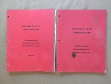 1950? MASSEY HARRIS MH No. 80 & 90 COMBINE HYDRAULIC PUMPS SERVICE & OPS MANUAL