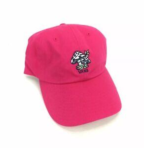 NEW Vans Off The Wall Mushroom Pink Dad Hat Cap Adjustable Skate Curved Menlo