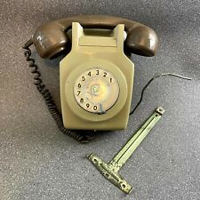 Vintage Brown BT TMC Rotary Dial Wall-Mount Telephone, Un-Converted, 1970s Phone