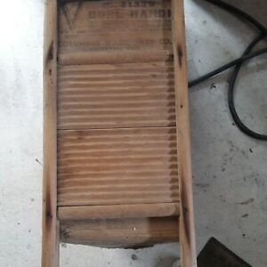 Vtg. Dubl Handi Columbus Washboard No. 2133 No Metal For War Effort and Victory
