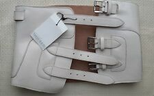 Alexander McQueen cream leather corset belt from 2015 - 2016 collection NWT