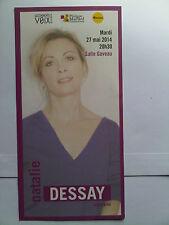 NATALIE DESSAY - PARIS CONCERT FLYER - COLLECTOR