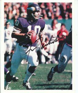 FRAN TARKENTON SIGNED Minnesota Vikings Football Photo