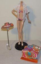Trina Turk Malibu Barbie Fashion Outfit Bikini Swimsuit Coverup Hat Towel Shoes