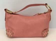 NWOT GORGEOUS KOOBA PINK LEATHER STUDDED SATCHEL HANDBAG PURSE