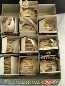 Lot of (10) 1995 Rawlings Official World Series Game Baseball ROMLB