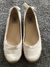 Ladies Cream Size 6 Ugg espadrilles Sandal Shoes