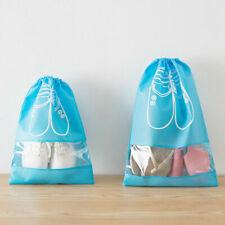 10xPortable Travel Shoe Bag View Window Pouch Storage Waterproof Drawstring Bag