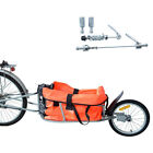 Tenive New Steel Bicycle Bike Trailer Cargo One-wheel Cart Carrier w/Luggage Bag