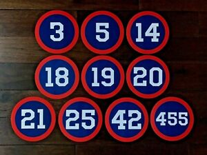 CLEVELAND INDIANS PROGRESSIVE JACOBS FIELD RETIRED NUMBERS PHOTO TICKET JERSEY