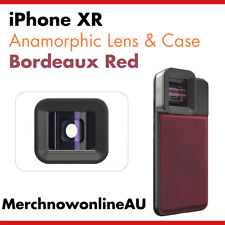 iPhone XR Anamorphic Lens & Red Genuine Leather Case - Moment Lens Alternative