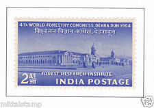 PHILA317 INDIA 1954 SINGLE MINT STAMP OF WORLD FORESTRY CONGRESS MNH