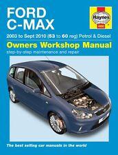 Haynes Manutenzione E Riparazione Manuale Ford C-MAX 2003-2010 (53 - 60 Reg) MPV 4900