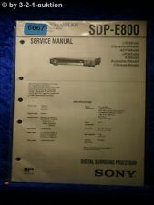 Sony Service Manual SDP E800 Digital Surround Processor  (#6667)