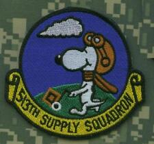 USAF 513th SUPPLY SQN JUMPSUIT SHOULDER SLEEVE INSIGNIA SSI: SNOOPY FLYER