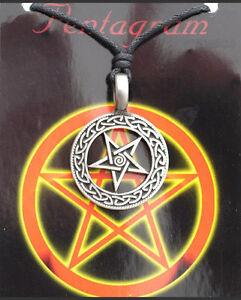 Colgante Con Cordón Étnico Tribal Pentagrama de Estaño Protección E6 7966