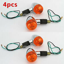 4pcs Bullet Turn Signals Light For Harley Davidson Softail Sportster Dyna